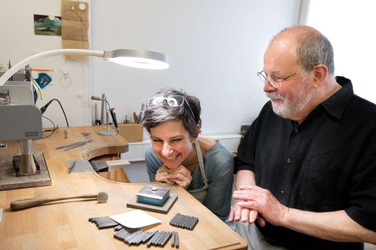 Freude am gemeinsamen Projekt mit der Schmuck-Designerin Andrea Schmidt 12